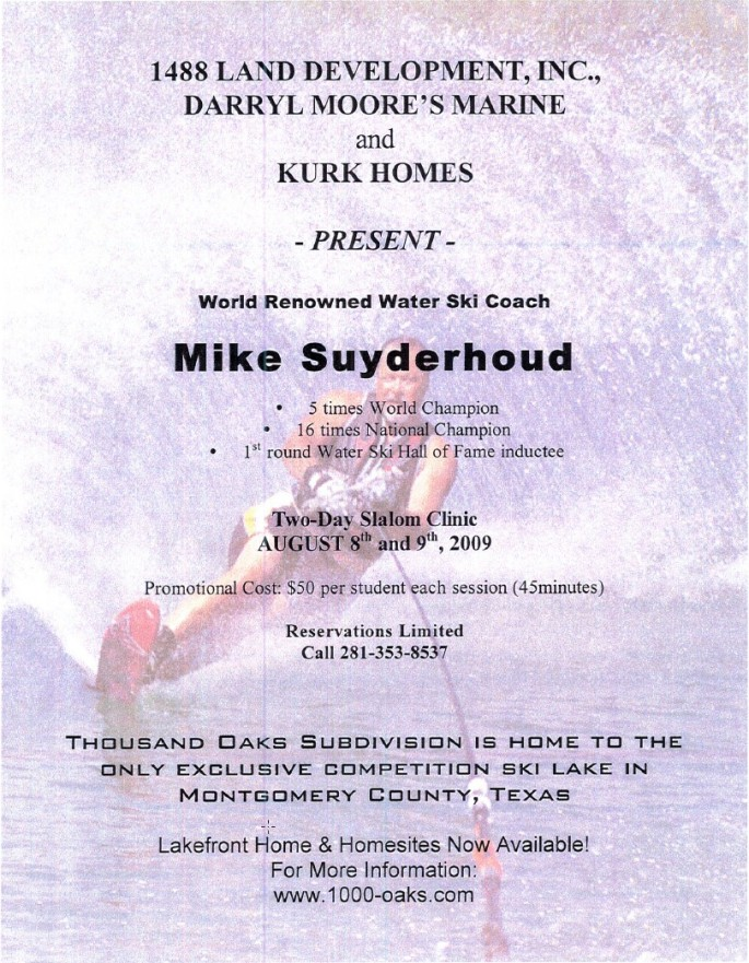 Water Ski Event with Mike Suyderhoud