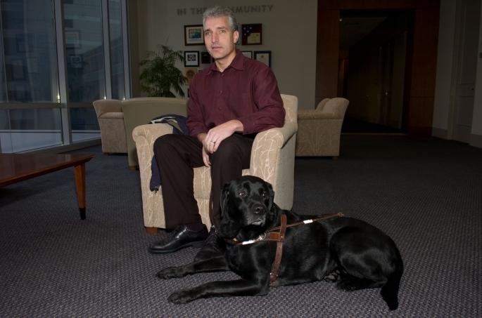Mike Royal and Leader Dog at Anadarko